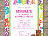 Free Hawaiian Luau Flyer Template Luau Party Invitations Template Luau Invitations