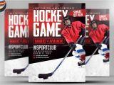 Free Hockey Flyer Template Hockey Game Flyer Template Flyer Templates Creative Market
