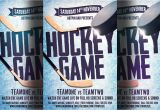 Free Hockey Flyer Template Hockey Game Flyer Template Flyer Templates Creative Market