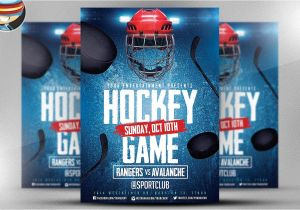 Free Hockey Flyer Template Ice Hockey Flyer Template 2 Flyer Templates Creative