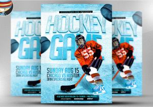 Free Hockey Flyer Template Ice Hockey Flyer Template Flyer Templates On Creative Market