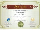 Free Hole In One Certificate Template Hole In One Certificate Template Wolgegarosua45 Blogcu Com