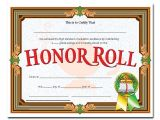 Free Honor Roll Certificate Template Certificates Honor Roll Gold Banner