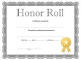 Free Honor Roll Certificate Template Honor Roll Certificate Free Printable Allfreeprintable Com
