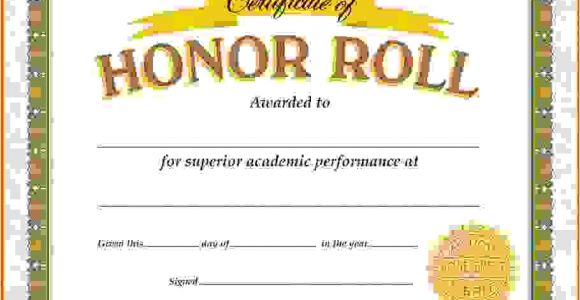 Free Honor Roll Certificate Template Honor Roll Certificate Template Fee Schedule Template