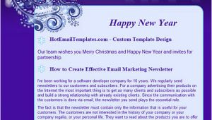 Free HTML Email Template Happy New Year Happy New 2012 Year Free HTML E Mail Templates