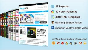 Free HTML Email Templates Mailchimp Focusmail Premium Email Template Mailchimp and