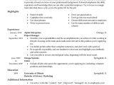 Free Job Specific Resume Templates Free Professional Resume Templates Livecareer