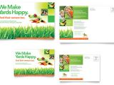 Free Lawn Care Flyer Template for Microsoft Word Lawn Maintenance Postcard Template Word Publisher