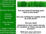 Free Lawn Mowing Service Flyer Template My Lawn Care Flyer What Do You Think Lawnsite