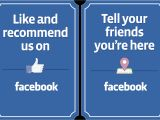Free Like Us On Facebook Flyer Template Printable Facebook Banners for Your Pages Websites and