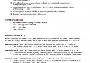 Free Lvn Resume Templates Free Lpn Licensed Practical Nurse Resume Example I Am