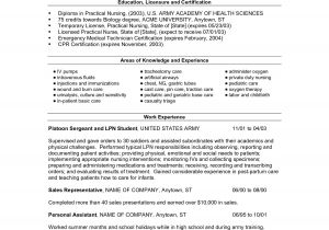Free Lvn Resume Templates Lpn Resumes Templates Sample Resume Cover Letter format