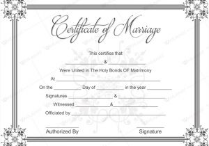 Free Marriage Certificate Template Document Templates February 2016