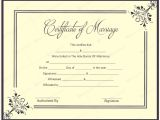 Free Marriage Certificate Template Printable Marriage Certificate Templates 10 Editable