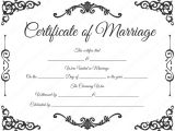 Free Marriage Certificate Template Traditional Corner Marriage Certificate Template Dotxes