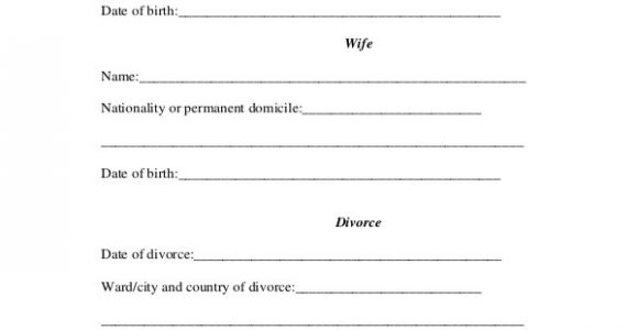 Free Marriage Certificate Translation Template Divorce Certificate Template 9 Free Word Pdf Document