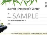 Free Massage therapy Gift Certificate Template 6 Best Images Of Massage Gift Certificate Template