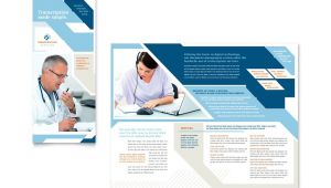 Free Medical Brochure Templates for Word Medical Transcription Tri Fold Brochure Template Word