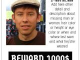 Free Missing Person Flyer Template Missing Poster Template Postermywall