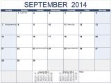 Free Monthly Calendar Templates 2014 Horizontal 2014 Monthly Calendar Template for Numbers