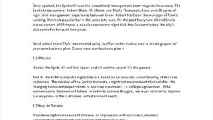 Free Nightclub Business Plan Template Simple Nightclub Business Plan Executive Summary 5