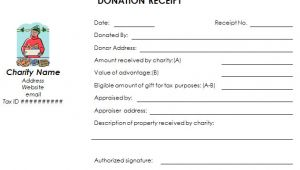 Free Non Profit Donation Receipt Template Download Nonprofit Donation Receipt Template