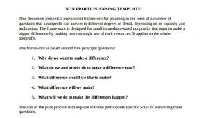 Free Nonprofit Business Plan Template Word Free Nonprofit Business Plan Template 2016 Sanjonmotel