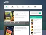 Free One Page Blogger Templates Flat Vetro Magazine Blogger Template Abtemplates Com