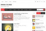 Free One Page Blogger Templates New Minima Colored Blogger Template Blogspot Templates 2017