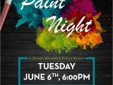 Free Paint Night Flyer Template Paint Night Chabad Jewish Center Of Petaluma