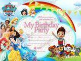 Free Paw Patrol Happy Birthday Card 10 X Disney Princess Paw Patrol Party Invites with 10 Free Envelopes 10