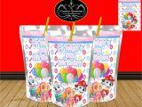 Free Paw Patrol Happy Birthday Card Paw Patrol Birthday Party Capri Sun Labels