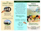 Free Pediatric Brochure Templates Information Brochure Examples Brickhost E2c5f985bc37
