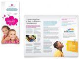 Free Pediatric Brochure Templates Speech therapy Education Tri Fold Brochure Template Design