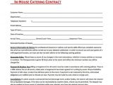 Free Personal Chef Contract Template In House Catering Contract Free Download In Pdf Catering
