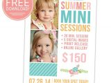 Free Photoshop Flyer Templates for Photographers Free Summer Mini Session Template for Photographers