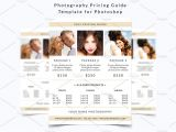 Free Photoshop Flyer Templates for Photographers Photography Pricing Guide Template Flyer Templates