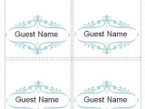 Free Placecard Template 7 Place Card Templates Sample Templates