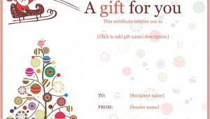 Free Printable Christmas Gift Certificate Template Word 20 Awesome Christmas Gift Certificate Templates to End 2017