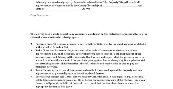 Free Printable Contract for Deed Template Free Printable Contract for Deed form Basic Templates