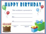Free Printable Gift Certificate Template Birthday Certificate Templates 26 Free Psd Eps In