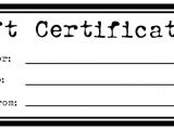 Free Printable Gift Certificate Template Printable Gift Certificates for Homemade Gifts Craft