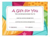 Free Printable Gift Certificate Templates Online Birthday Gift Certificate Template Free Printables