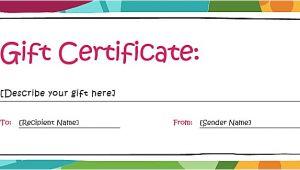 Free Printable Gift Certificate Templates Online Blank Gift Certificate Template Word Printable Calendar