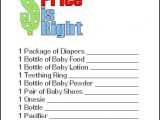 Free Printable Price is Right Baby Shower Game Template 15 Entertaining Baby Shower Games Pretty My Party