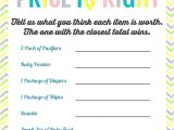 Free Printable Price is Right Baby Shower Game Template Printable Baby Shower Games the Girl Creative