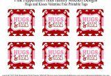 Free Printable Teachers Day Card Freebie Hugs and Kisses Valentine Free Printable Tag Card