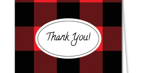 Free Printable Thank You Card Buffalo Plaid Thank You Cards Free Download Easy to