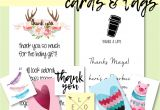Free Printable Thank You Card Free Printable Cards and Tags for Favors and Gifts Thank